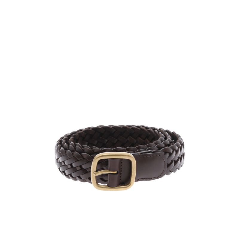 d192a9f1108b Anderson s leather belt braided dark brown ...