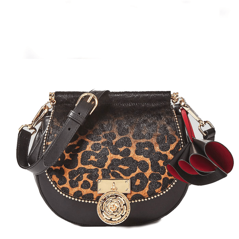480d97a4b647 Guess Glory leather shoulder bag with animal print ...