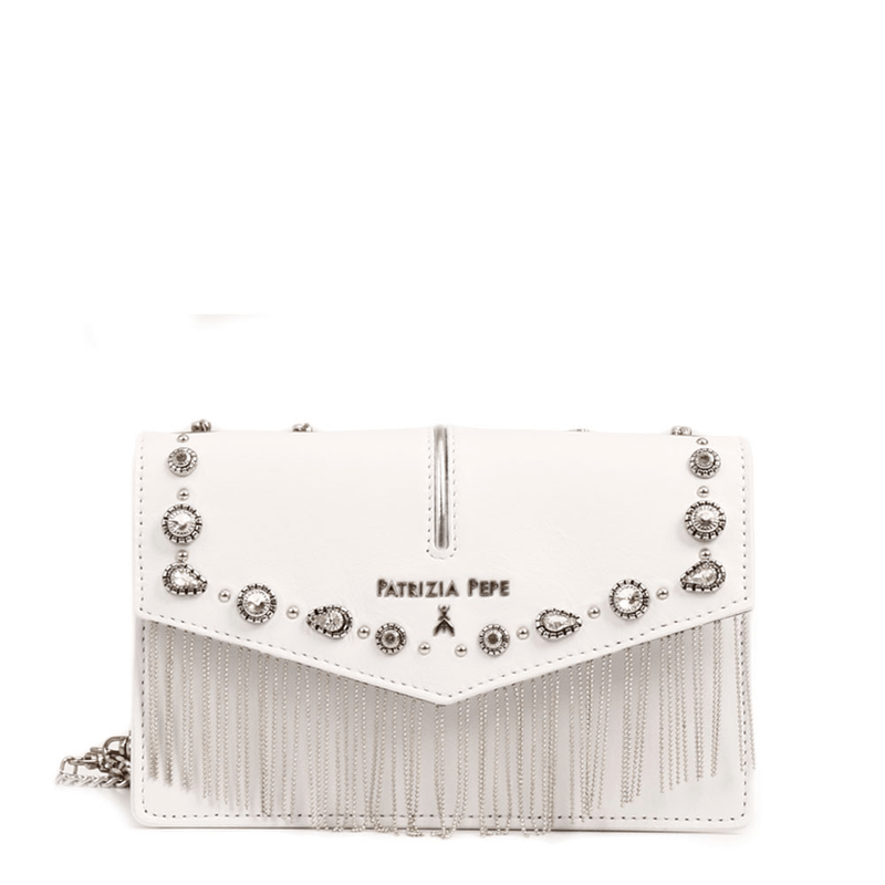 ecd580bc4238 Patrizia Pepe crossbody bag with strass and fringes ...
