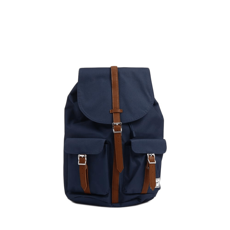 c48f4251d4f Herschel Dawson Backpack Navy Tan Synthetic Leather ...